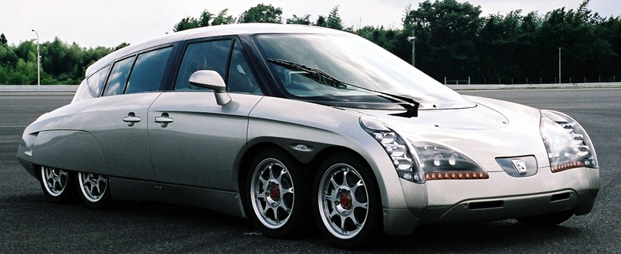 Japanese Electric Car Has Eight Wheels Big Ambitions Telstar