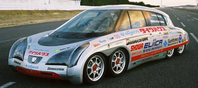 Japanese Electric Car Has Eight Wheels Big Ambitions Telstar