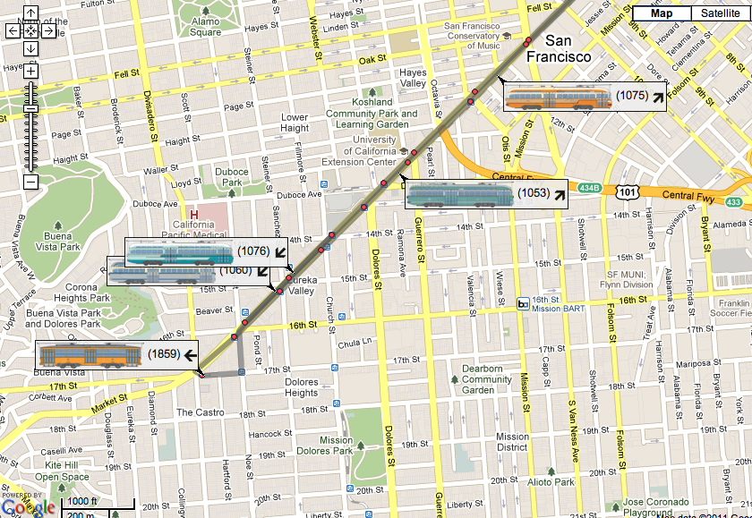 Ridiculously Cool New Map Shows Live Location Of San Franciscos - Vintage sf map